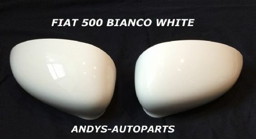 ABART 500,595,695 2015 ONWARDS WING MIRROR COVER PAIR IN BIANCO WHITE CODE 296/A
